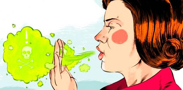 Alimentos detergentes - Mau hálito